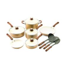 Amazon Vendor 14 Piece Matellic Non-Stick Ceramic Cookware Set