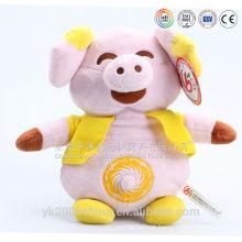 Bateria operada dançando e cantando brinquedos de pelúcia porco
