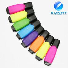 Fabricante Mini Multi cor Highlighter caneta com logotipo marca