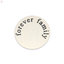 Top sale stainless steel silver forever letter family floating locket plates jewelry