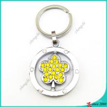 Anneaux porte-clés de fleur de cristal jaune (KR16041916)