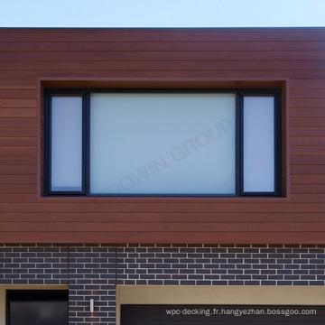 Parement de mur composé en bois en bois d'utilisation commerciale de bureau / mur coulissant de wpc
