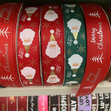 Factory gift package polyester ribbon for  Merry  Christmas Xmas ribbon