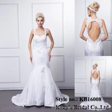 Kb16008 wolesale mais recente sexy design sweetheart sem mangas vestido de sereia casamento sem mangas / vestido de maternidade