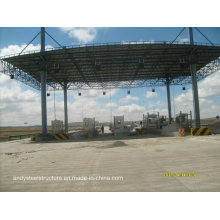 Steel Construction Space Frame Steel Prefab Toll Station