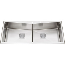 S2210 Double Bowl Stainless Steel Handmade Sink