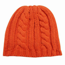 Senhora moda lã acrílico malha chapéu de inverno quente (yky3104)