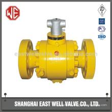 High pressure ball valve flange
