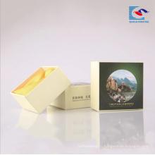 Картонные коробки бумаги упаковывая для отеля мыло с пеной инкрустация лента