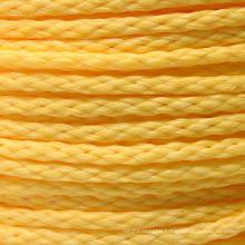 Factory price  polypropylene braided rope cordage yellow 200m 500m 1000m