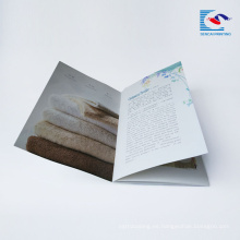 Comercial colorido perfecto folleto de impresión vinculante para la empresa