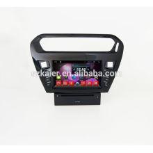 Quad-Core-Auto-DVD-Player mit GPS, Wifi, BT, Spiegel Link, DVR, SWC für Peugeot 301 / Citroen Elysee