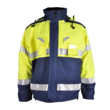 jaqueta de trabalho reflexivo de segurança retardante de fogo