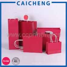 Aufbereitete Packpapier-Taschen-Luxuspapier-Geschenktasche mit unterschiedlichem Griff
