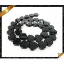 Heart Beads, Black Gemstone Loose Beads Jewelry, Onyx Agate Bead (AG016)