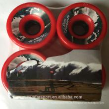 Alta recuperação de poliuretano Longboard Slide de skate Rodas