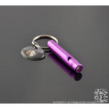 Llavero colgante del silbido de aluminio de la superv