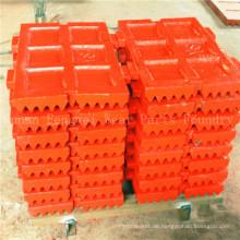 Kundengebundene hohe Manganstahlbackenbrecher zerteilt Backenplatte