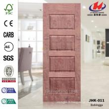 JHK-011 Hot Sale Factory Fabrication Natural Bubingga Anti-Fire HDF Blue Door Sheet