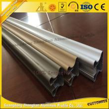 Perfil de alumínio revestido de pó anodizado para janela e porta