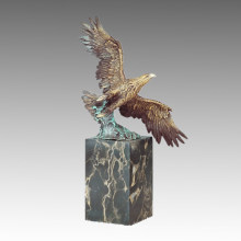 Animal Brass Statue Eagle Flying Decor Bronze Sculpture Tpal-292