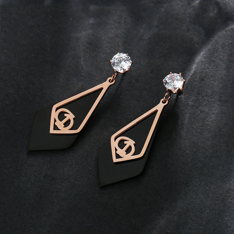 Rose Gold Fashion Earrings