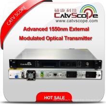 Fournisseur professionnel High Performance CATV 1550nm Advanced External Modulated Optical Laser Transmitter