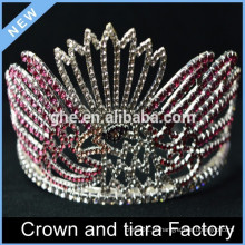 Coroas e tiaras de desfile de cristal de cristal de strass