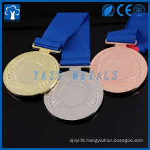 cheap custom championship medal with customized ribbon