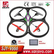 V666 4CH 6-Axis Gyro Drone con pantalla LCD y cámara RC Quadcopter tomar foto