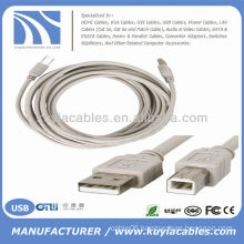 15FT USB 2.0 A-B CABLE CORD For CANON DELL HP PRINTER