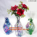 foldable clear plastic small flower vases, PVC flexible flower vase, Foldable plastic flower vase