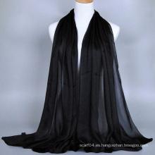 Bufanda Mujer Hijab Musulmana De Seda Toque Poly Satinado Georgette Dubai Hijab