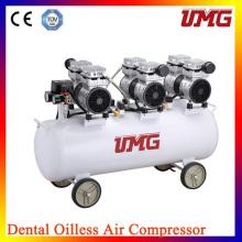 Портативный бесшумный воздушный компрессор / стоматологический компрессор Цена