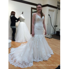 Fit and Flare Trendy Wedding Gown