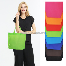 blank accept custom heat seal transfer printed 100gsm flat non woven promotional tote bag nonwoven shopping bag