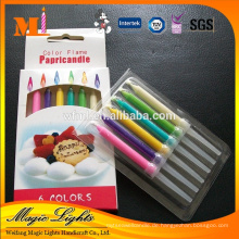 Color Flame Feature und Geburtstag verwenden Geburtstag Kuchen Kerzen
