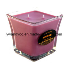 Romantic Scented Aromatherapy Candles in Clear Glass Jar