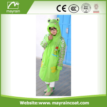 Boys Waterproof Green PVC Rainsuit With Logo