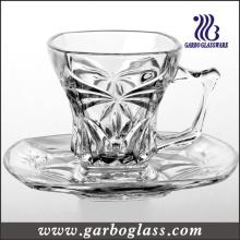 Ensemble de théière à thé et de soucoupes en verre (TZ-GB09D1204CB)