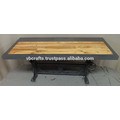 Vintage Industrial Crank Table New Table Top Design