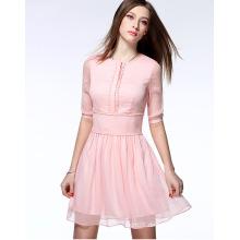 2016 hohe Qualität Großhandel Sommer Chiffon Frauen Kleid Dame Kleid