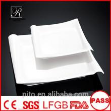 P & T cerâmica fábrica placas de porcelana, placas quadradas, pratos de jantar