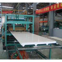 Máquina formadora de rolo de telha de aço colorida para telhados e paredes / linha de máquina de fabricação