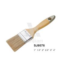 Sjie8076 Nailon Bristle Oil Paint Brush Mango de madera