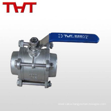 3 pieces stainless steel mini ball valve