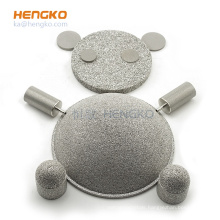 sintered microporous metal stainless steel SS 316L bronze filter strainer disc