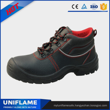 Men Leather Safety Shoes, Work Boots Ufa011