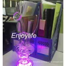 Enjoylife Fab Egg fumar tubo de vidro de água com luz LED