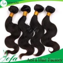 100% Unverarbeitetes brasilianisches Menschenhaar / Remy Virgin Hair Extension
